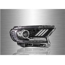 FORD RANGER T7 16-19 LED Sequential Signal Blue Projector Head Lamp *P