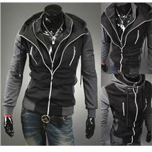 SALE!!! D.HOMME KOREAN STYLISH TURTLENECK  MULTI-ZIPPER JACKET