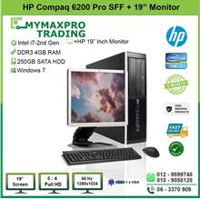 HP Compaq 6200 Pro SFF i7 2nd Gen 4GB 250GB HDD + 20' LED Monitor