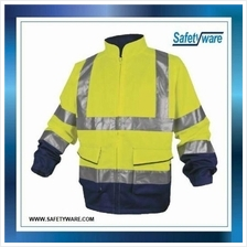 DELTA PLUS Fluorescent Yellow Navy- Blue Jacket / High Visibility