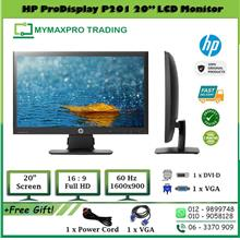 HP Prodisplay P201 20' LED Monitor 20-inch 1600x900 VGA DVI