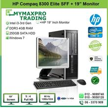 HP Compaq 8300 Elite SFF i3 3rd Gen 4GB 250GB HDD + 19' inch Monitor