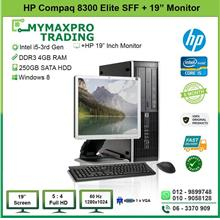 HP Compaq 8300 Elite SFF i5 3rd Gen 4GB 250GB HDD + 19' inch Monitor