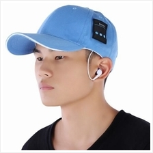 RECHARGEABLE BLUETOOTH MUSIC HAT BASEBALL QUICK-DRYING LEISURE CAP (WATER BLUE
