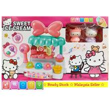 HELLO KITTY SWEET ICE CREAM PLAYSET LIGHTS & MUSIC PRETEND PLAY TOYS
