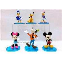 New Disney Mickey Mouse Minnie Donald Duck Figures Cake Topper 6 in 1