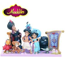 Aladdin Figures Aladdin Figurines Cake Topper (8 pcs with 2 type base)