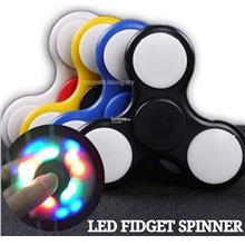 Hand Spinner LED Tri Fidget Spinner Colourful Anti-Stress Spiner OFFER