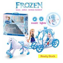 DISNEY FROZEN ELSA ANNA OLAF TOY MAGIC LITTLE CARRIAGE HORSE CHARIOT