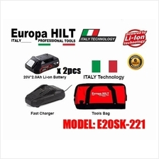 EUROPA HILT 20V 2.0AH STARTER KIT WITH CANVAS BAG