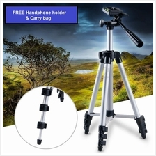 Foldable Telescoping Camera DSLR Tripod Extendable 3-Way Tripod