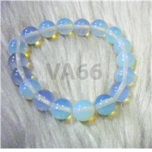 Elastic Stretch Opal Moonstone Gemstone Bracelet Crystal Bangle Men Ge
