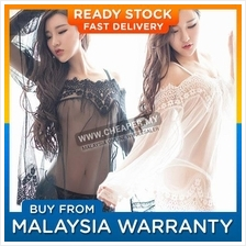 Sexy Lace Dress See-through Lady Nightwear Sleepwear Gauze Underwear G