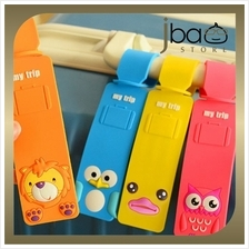 Duck Owl Penguin Lion Luggage Tag Silicone Cartoon Name Tags