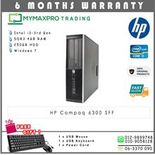 HP Compaq 6300 SFF Intel i3-3rd Gen 4GB 250GB HDD Win 7 Desktop
