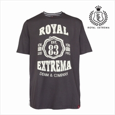 ROYAL EXTREMA BIG SIZE Printed T-shirt RE1010 (M Black)