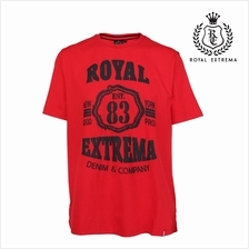 ROYAL EXTREMA BIG SIZE Printed T-shirt RE1010 (Red)