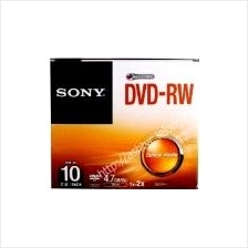 SONY DVD-RW 4.7GB WITH CASE 10PCS PACK(DMW47SS/T)