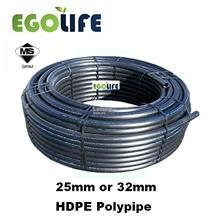 High Density Polyethylene HDPE Poly Pipe Polypipe PN10 PE100 (Sirim)