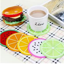 【READY STOCK MY】Cute Fruit Silicon Hot Cup Coaster Table..