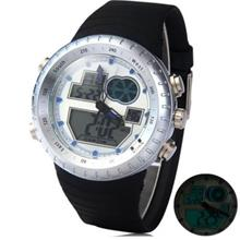 LED WATCH DIGITAL ANALOG WRISTWATCH (SILVER)