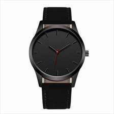 Fashion Stainless Steel Quartz Analog Man Watch (BLACK)