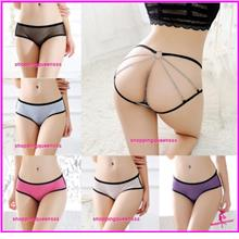 df6e4dae759 Sexy Lingerie Women Underwear Chain Panties Briefs G-String -