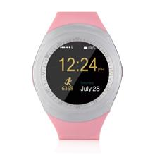 AA7 Fashion Multifunctional Color Touch Screen SIM Call Smart Watch (PINK)