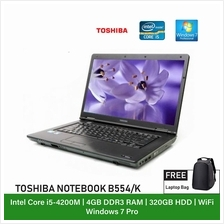 (Refurbished Notebook) Toshiba Dynabook B554K Laptop / 15 inch Display / Intel