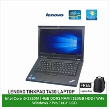 (Refurbished Notebook) Lenovo Thinkpad T430 Laptop / 14 inch Display / Intel C