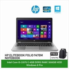(Refurbished Notebook) HP Folio 9470M Laptop / 14 inch Display / Intel Core i5