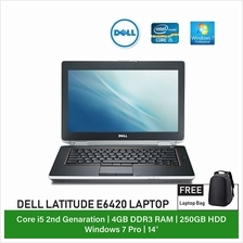 (Refurbished Notebook) Dell Latitude E6420 Laptop / 14 inch Display / Intel Co