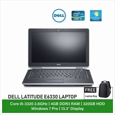 (Refurbished Notebook) Dell Latitude E6330 Laptop / 13.3 inch Display / Intel