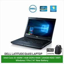 (Refurbished Notebook) Dell Latitude E6410 Laptop / 14 inch Display / Intel Co