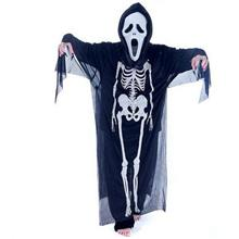 Halloween Ghost Costume with Mask And Glove Skeleton Ghost Costume