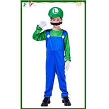 Nintendo Themed Cartoon Super Mario Friend Luigi Costume