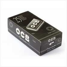 1 box OCB Premium Black DOUBLE Rolling paper - 2500 papers