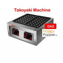 Takoyaki machine double plate gas 18 28 hole