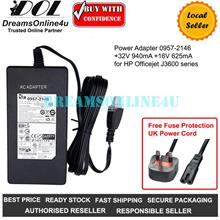Replacement Power Adapter HP Printer +32V 940mA +16V 625mA 0957-2146