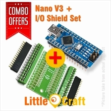 Arduino Nano V3 + Expansion I/O Shield Combo
