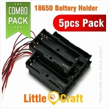 18650 Double Cell Two Slot 3.7V Battery Holder - 5pcs Pack