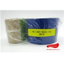 Wax Barcode Ribbon 40MM X 300M