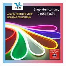 220V Waterproof Flexible Bright Neon LED Strip Light 5m With Adapter