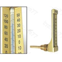 AMS V-LINE BRASS STEM GLASS THERMOMETER -30C/50C (VA662)