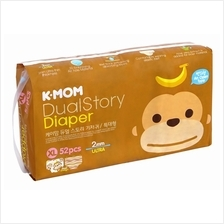 K-MOM Dual Story Diaper XL 52pcs (Up to 12kg) - 10% OFF!!)