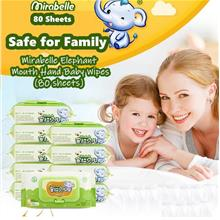 【READY STOCK MY】Elephant Baby Wipes (80s) Mouth Hand Wet..