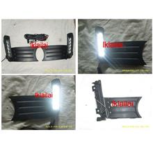 Honda Jazz / Fit '11 Fog Lamp Cover with LED DRL per pair