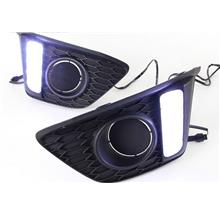 Honda Jazz '14 Fog Lamp Cover with LED DRL per pair