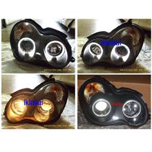 MERCEDES BENZ W203 '00-03 LED Ring Projector Head Lamp