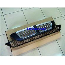 HONDA CRV '07-08 Black Chrome Front Grille [BMW X5 Look]